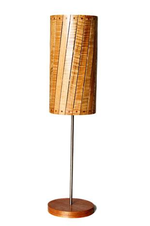 Custom made wooden lamp