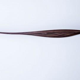 Onda Strata sculptural shelf Walnut wood