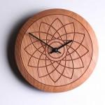 Lotus flower wooden clock