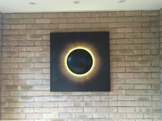 Corona illuminated artwork