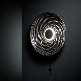 Transmission illuminated wall mounted sculpture