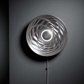Transmission illuminated sculpture, cold cast aluminium by David Tragen