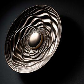 Transmission illuminated sculpture, cold cast bronze by David Tragen